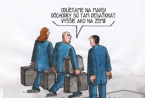 dochodky karikatura